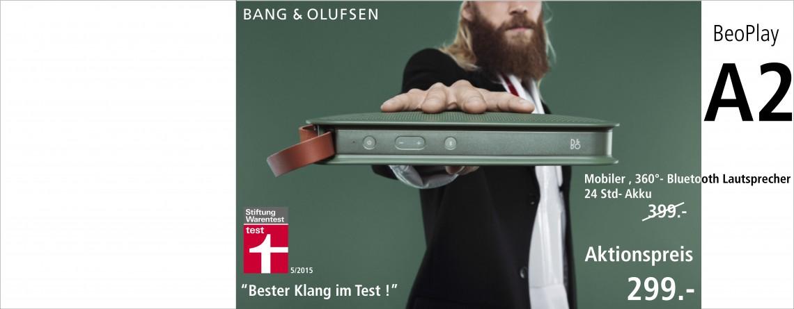 Bang & OLufsen A2 Mobiler Bluetooth-Lautsprecher
