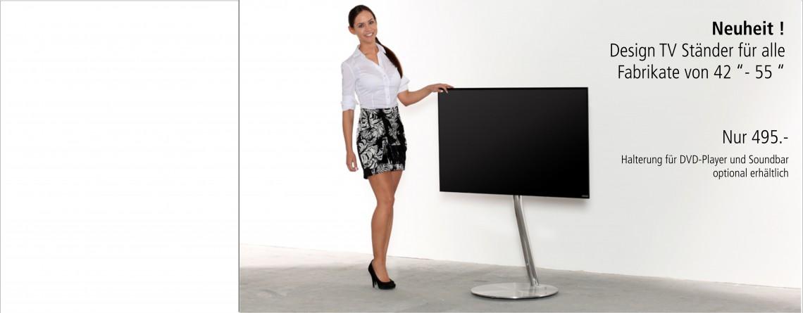 Design TV-Ständer aus Edelstahl