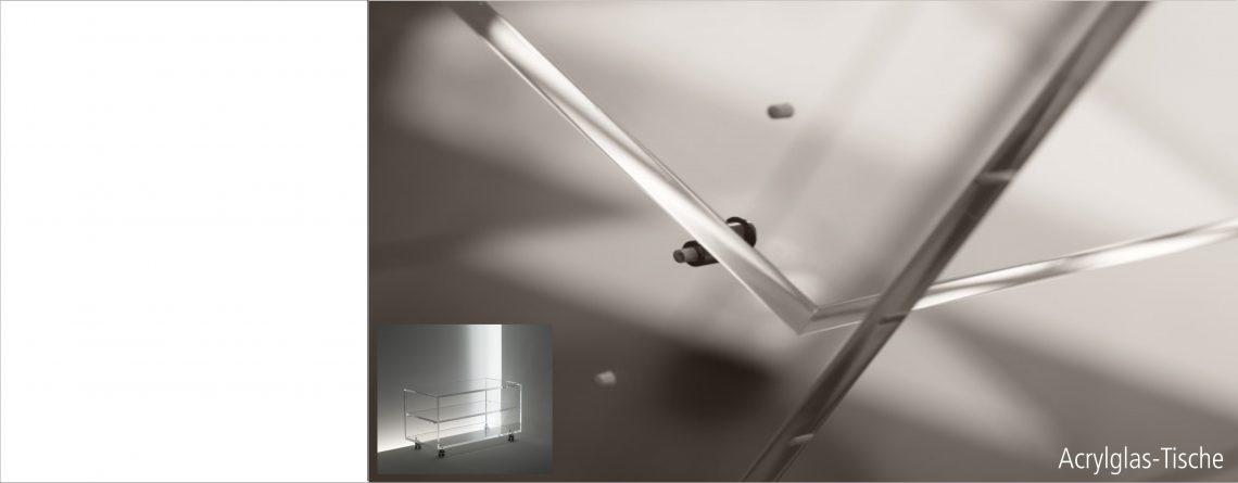 Acryl- und Normalglas TV-Tische in verschiedenen Ausführungen