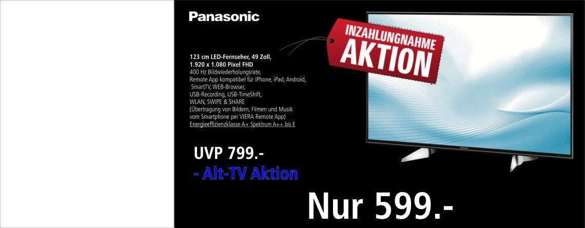 Panasonic Altgeräte Inzahlungnahme