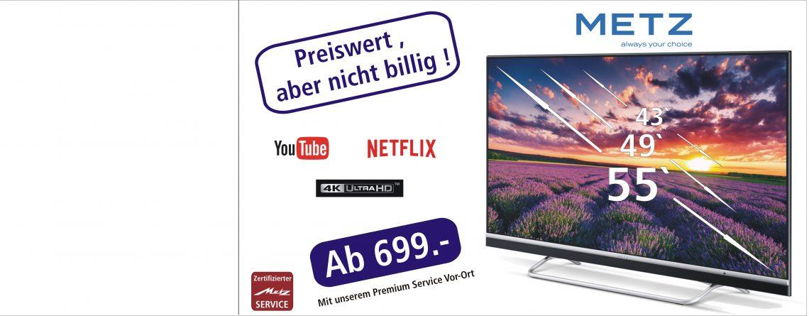 Preiswert ,aber nicht billig ! Die neue Geräteserie von Metz